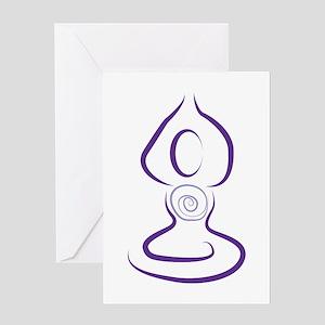 Yoga Symbol Greeting Cards