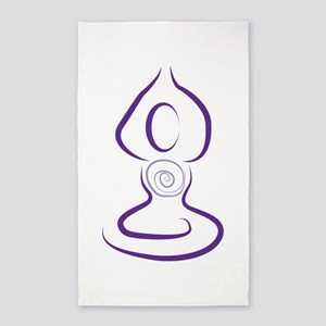 Yoga Symbol Area Rug