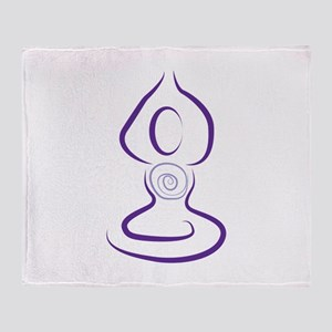Yoga Symbol Throw Blanket