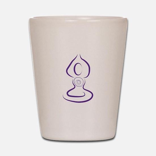 Yoga Symbol Shot Glass