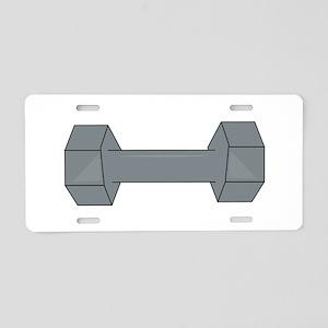 Barbell Aluminum License Plate
