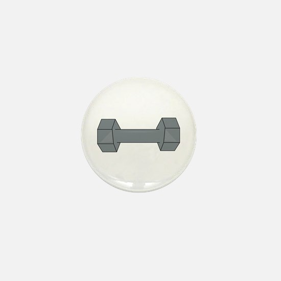 Barbell Mini Button