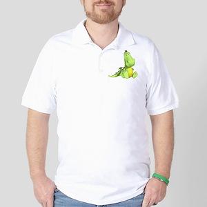 Cute Green Dragon Golf Shirt