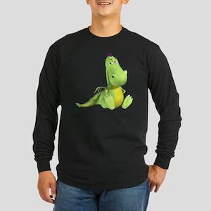 Cute Green Dragon Long Sleeve T-Shirt
