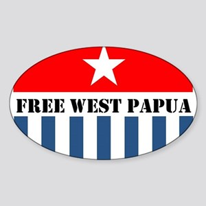 Free West Papua Morning Star Flag Logo Sticker