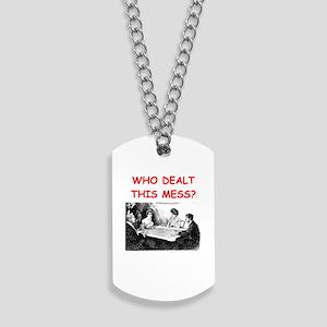 funny bridge joke on gifts and t-shirts Dog Tags