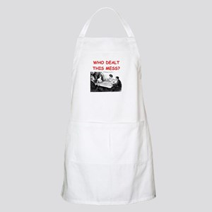 funny bridge joke on gifts and t-shirts Apron