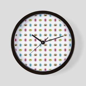 CRAFTY CRABS Wall Clock