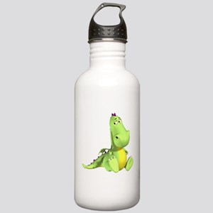 Cute Green Dragon Stainless Water Bottle 1.0L