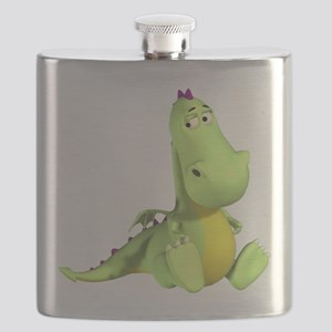 Cute Green Dragon Flask
