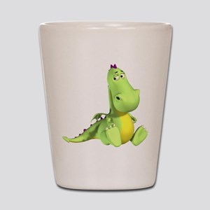 Cute Green Dragon Shot Glass