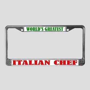 World's Greatest Italian Chef License Plate Frame