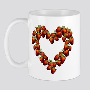 Strawberry Heart Mug