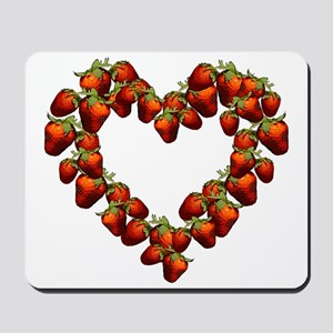 Strawberry Heart Mousepad