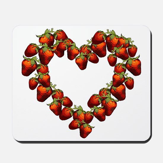 Strawberry Heart Mousepad