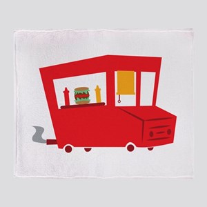 Food Truck Throw Blanket