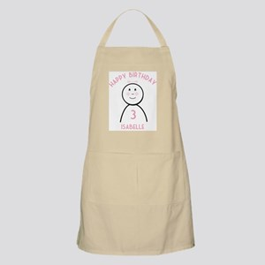 Happy B-day Isabelle (3rd) BBQ Apron