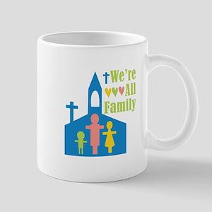 We're All Family Mugs