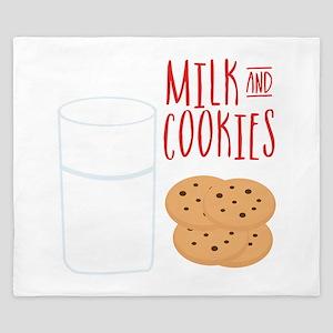 Milk And Cookies King Duvet
