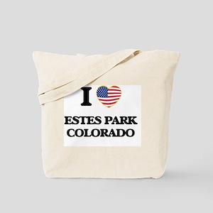 I love Estes Park Colorado USA Design Tote Bag