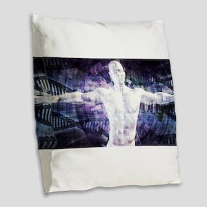 Biotechnology Burlap Throw Pillow