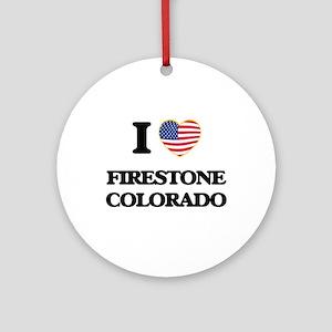 I love Firestone Colorado USA Des Ornament (Round)