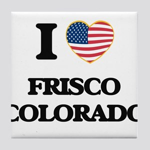 I love Frisco Colorado USA Design Tile Coaster