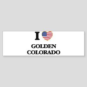 I love Golden Colorado USA Design Bumper Sticker