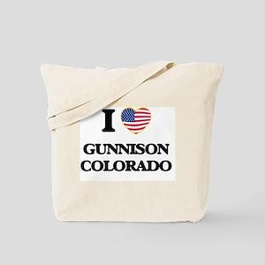 I love Gunnison Colorado USA Design Tote Bag