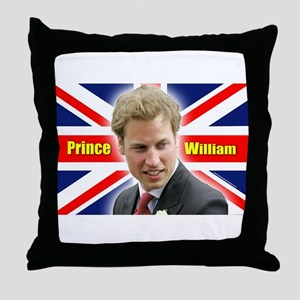 HRH Prince William Throw Pillow