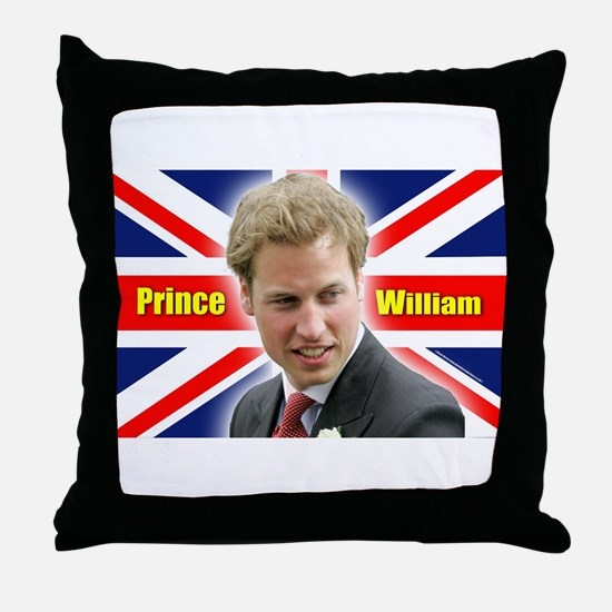 HRH Prince William Throw Pillow