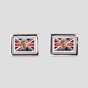 HRH Prince William Rectangular Cufflinks