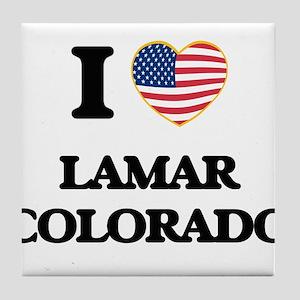 I love Lamar Colorado USA Design Tile Coaster