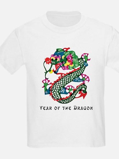 Chinese Paper Cut Dragon Kids T-Shirt
