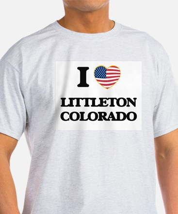I love Littleton Colorado USA Design T-Shirt