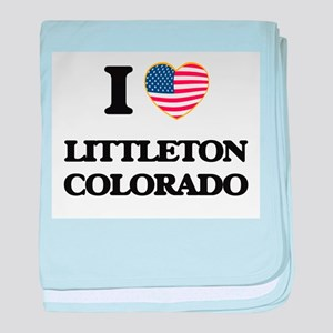 I love Littleton Colorado USA Design baby blanket