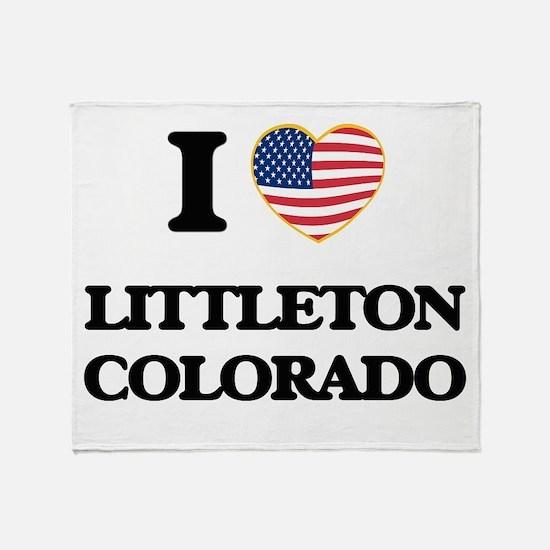 I love Littleton Colorado USA Design Throw Blanket