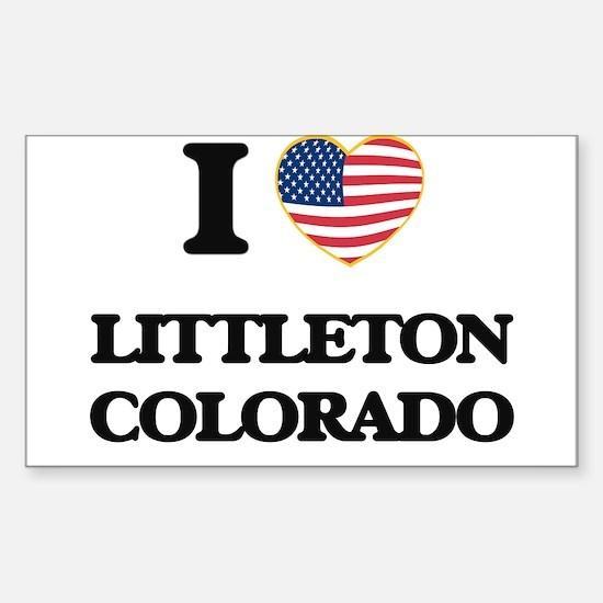 I love Littleton Colorado USA Design Decal