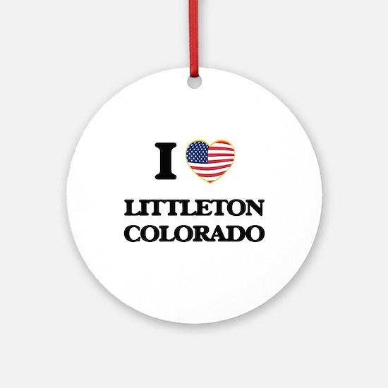 I love Littleton Colorado USA Des Ornament (Round)