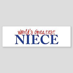 World's Greatest Niece II Bumper Sticker