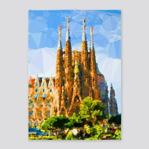 Holy Family Cathedral Barcelona 5'x7'area