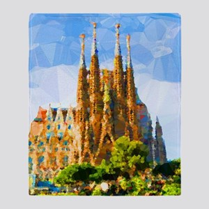 Holy Family Cathedral Barcelona Throw Blanket
