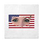 Us Woman U.s. Girl American Beauty Queen Duvet