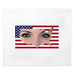 Us Woman U.s. Girl American Beauty King Duvet