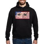 Us Woman U.s. Girl American Beauty Hoodie (dark)