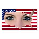 US Blonde American Beauty Sticker (Rectangle)