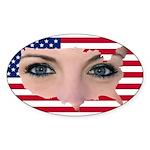 US Blonde American Beauty Sticker (Oval 10 pk)