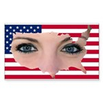 US Blonde American Beaut Sticker (Rectangle 10 pk)