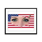 US Blonde American Beauty Framed Panel Print