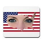 US Blonde American Beauty Mousepad